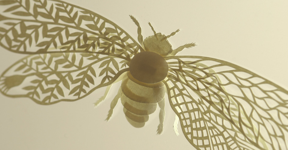 Yellow bee Papercutting Gallery