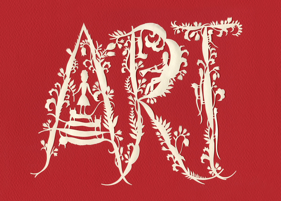 ART papercut red THE ART IS A WAY PROJECT