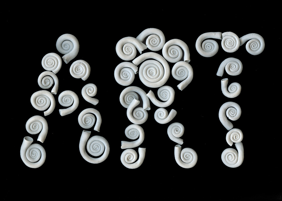 ART porcelain spirals THE ART IS A WAY PROJECT