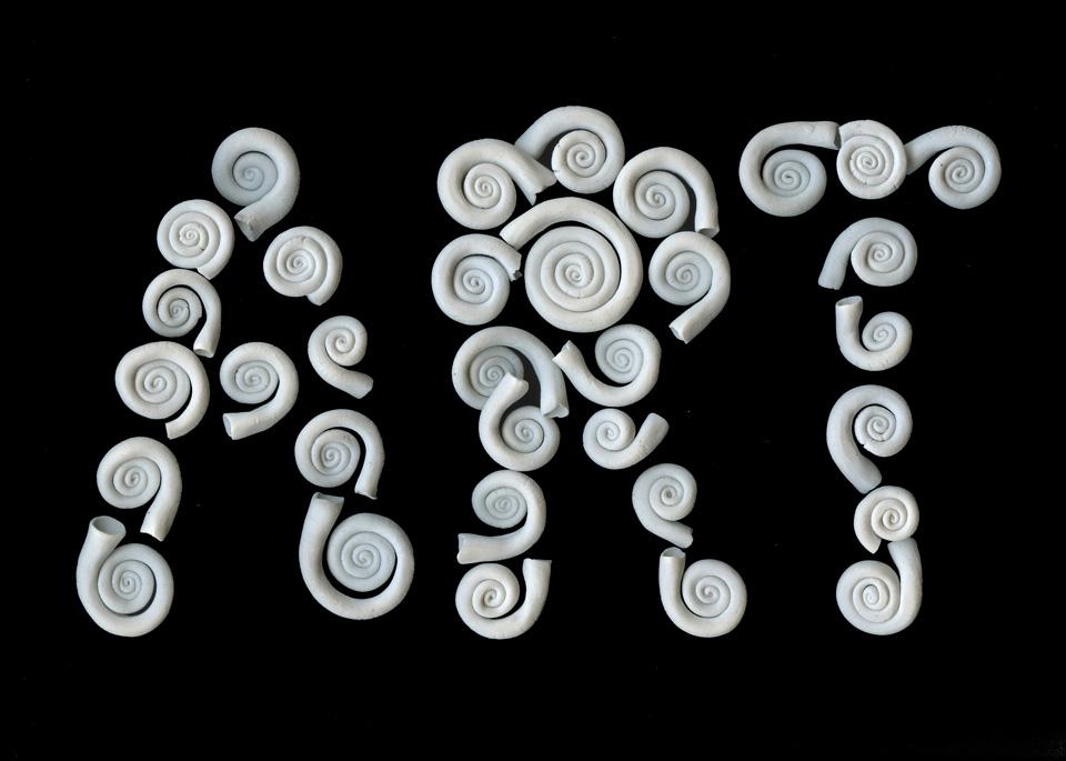 ART porcelain spirals THE ART IS A WAY PROJECT