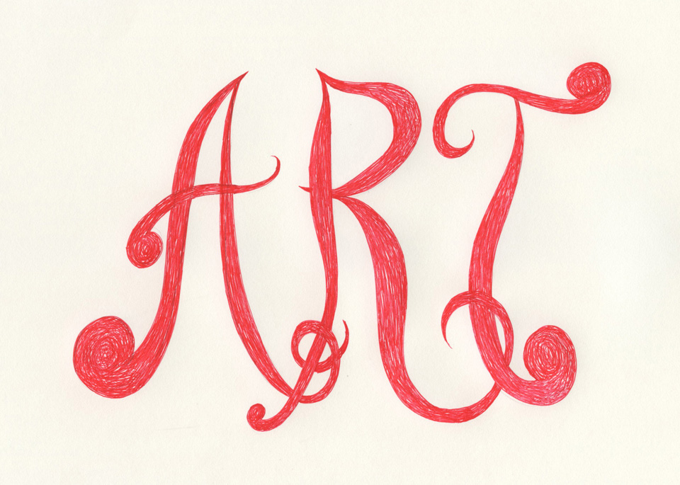 ART red pen THE ART IS A WAY PROJECT