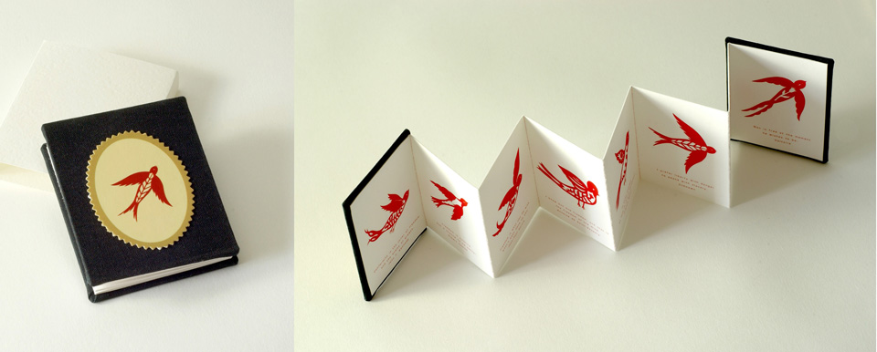 Miniature book with birds small Call for Young Artists to Showcase their Work on Art is a Way.