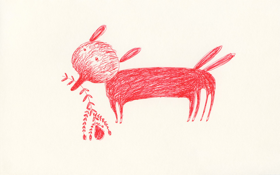 dog in red 960 Red Drawings