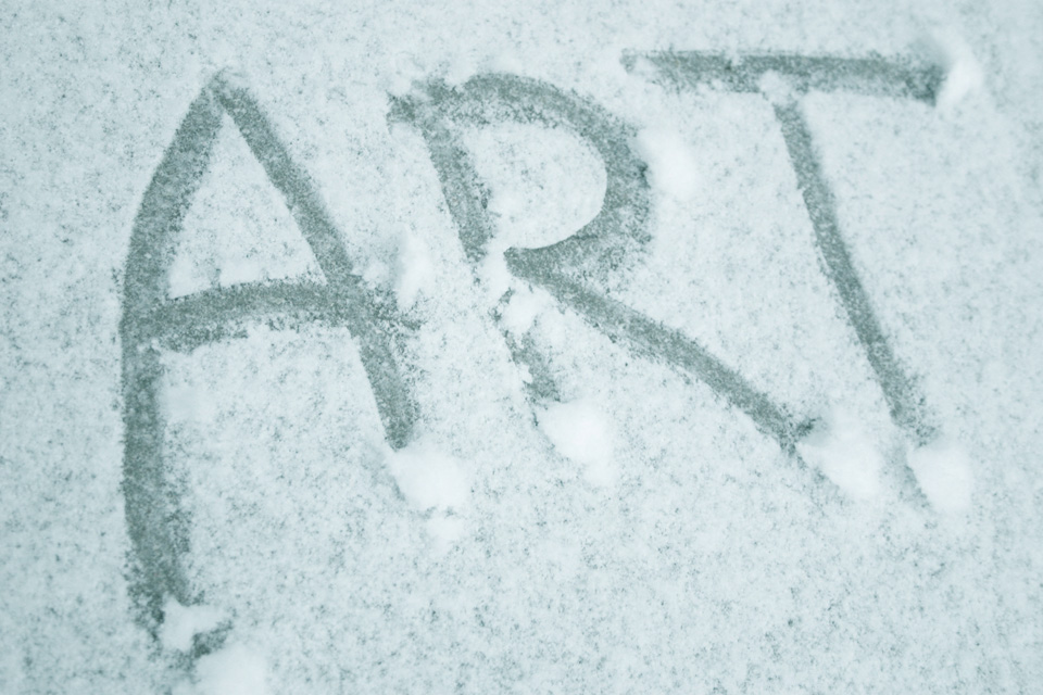 ART word friends (snow) small