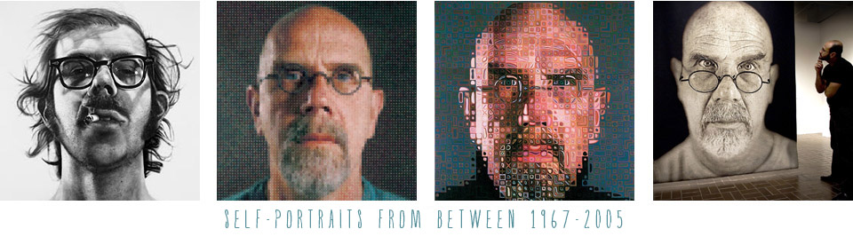 Chuck Close copy Self Portrait Inspiration