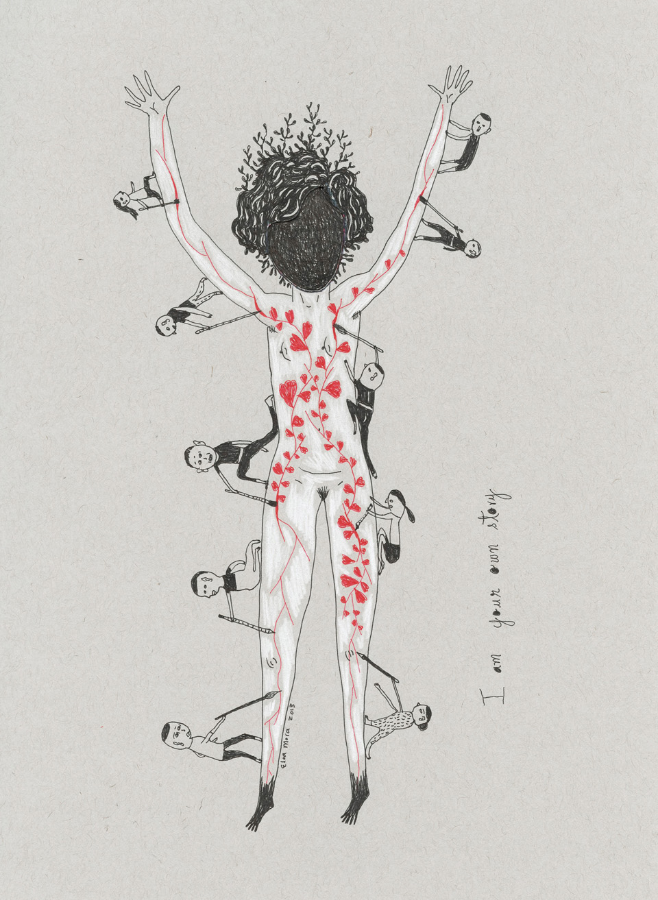 I am your own story small Three Drawings Inspired by Amanda Palmer