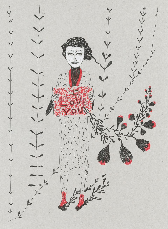 I love you small Three Drawings Inspired by Amanda Palmer