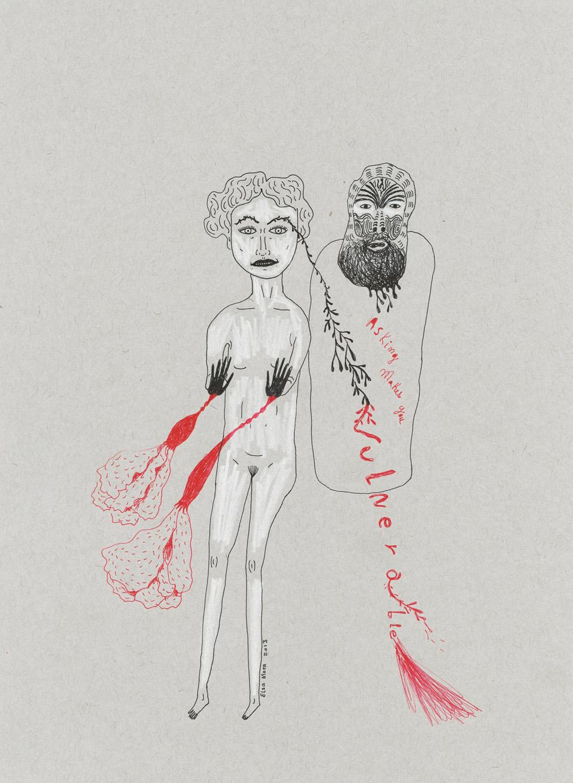 Vulnerable small Three Drawings Inspired by Amanda Palmer