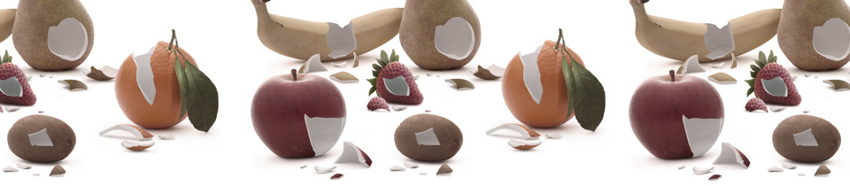 Alexis Persani. Porcelain Fruits.