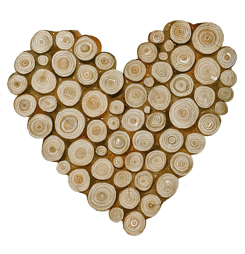 logs Hearts for Inspiration.