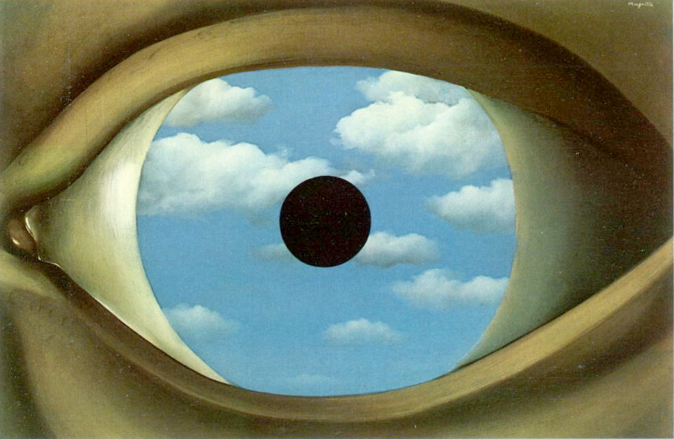 Eyes for your eyes art is a way for Rene magritte le faux miroir