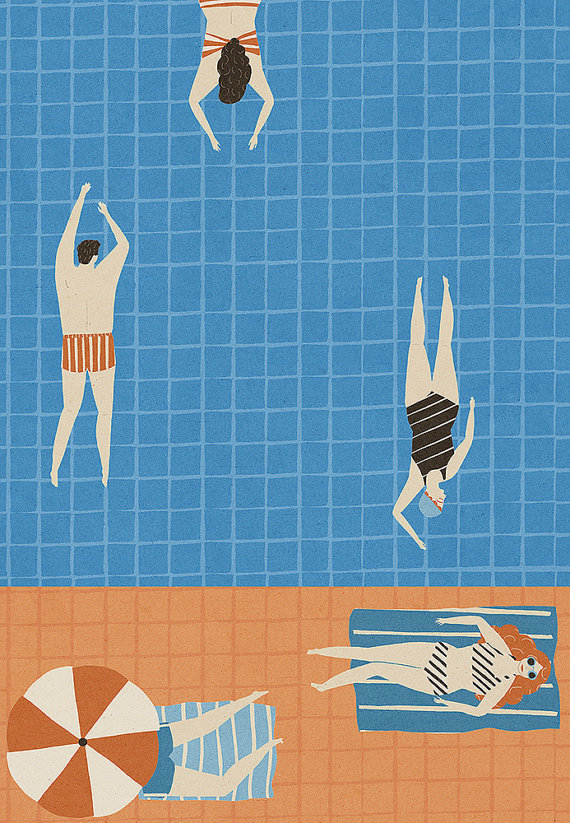 il 570xN.444749765 n95d Swimming Pool Inspired Illustrations by Eight Artists.