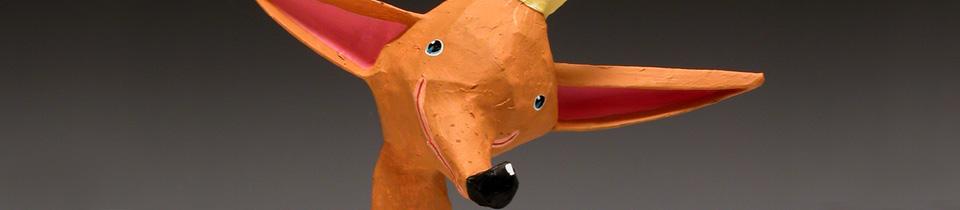Dominique Donois Makes Beautiful Sculptures in Paper Mache.