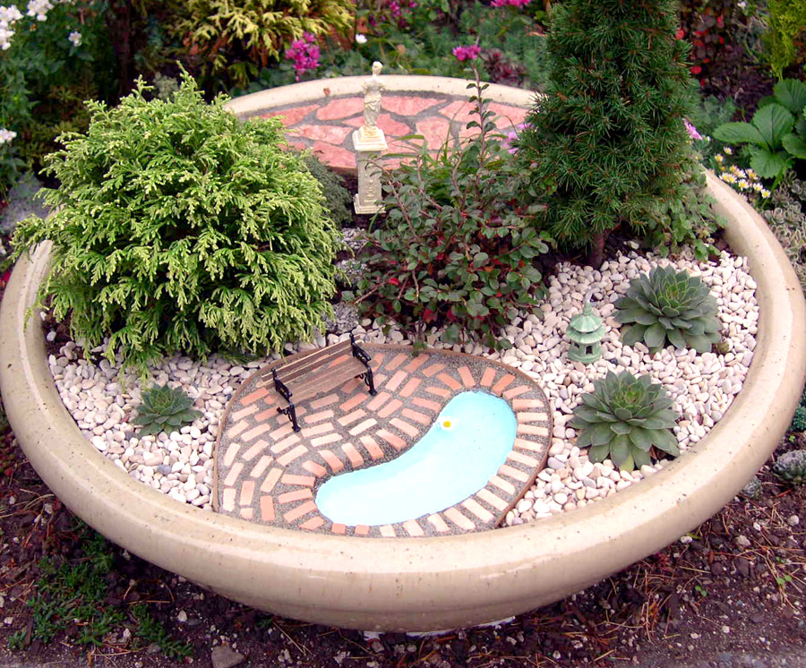 Mini Garden Landscape Design With Mini Garden Landscape Design