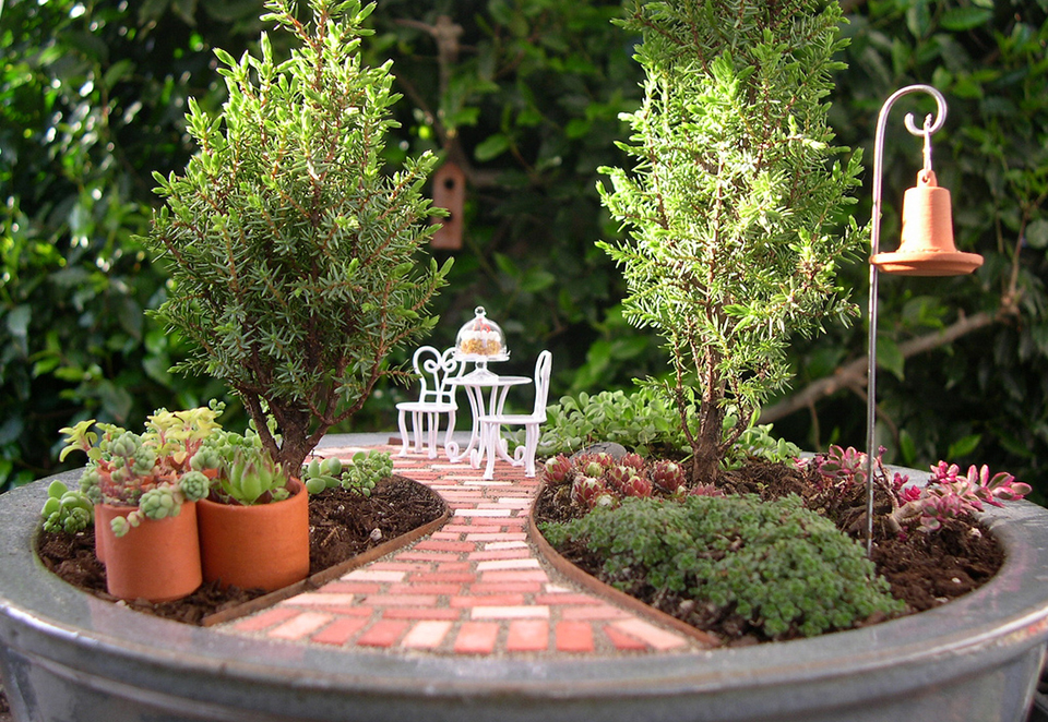 miniature gardens art is a way. Black Bedroom Furniture Sets. Home Design Ideas