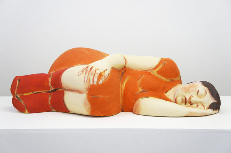 Sleeper in Orange Dress Front Akio Takamoris Clay People.