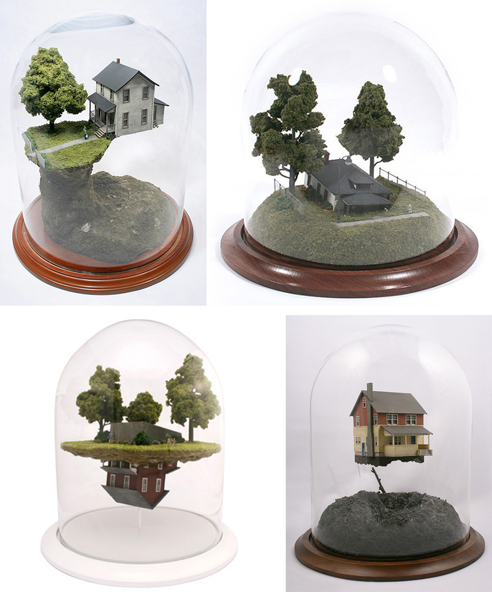 4 dioramas Dioramas by Thomas Doyle.