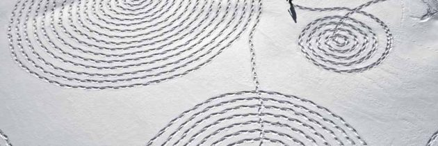 Snow Drawing Project by Sonja Hinrichsen.
