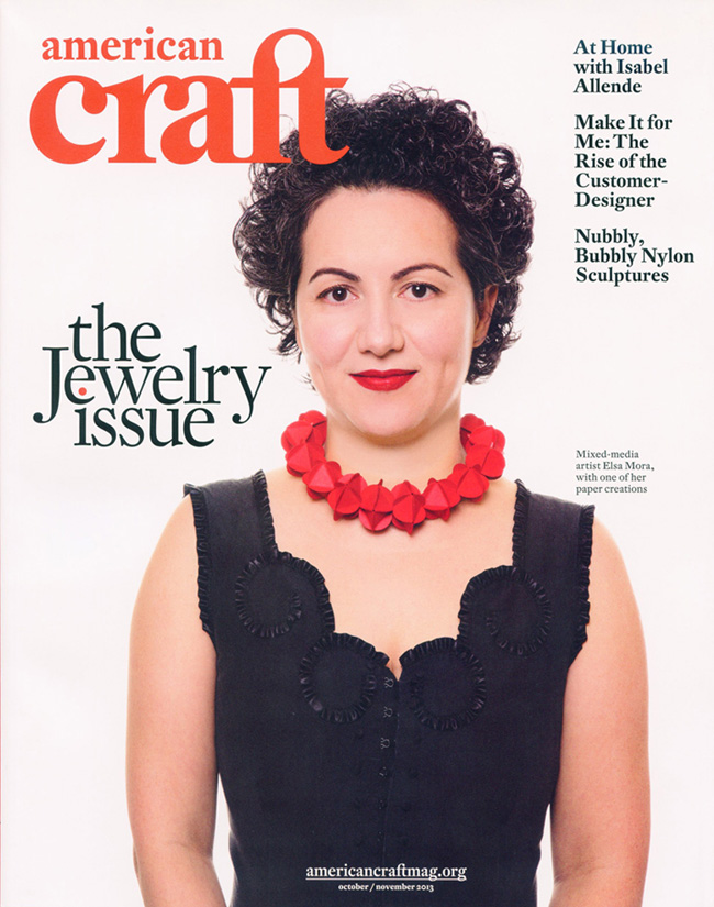 Elsa Mora on the cover of American Craft Magazine  American Craft Magazine.