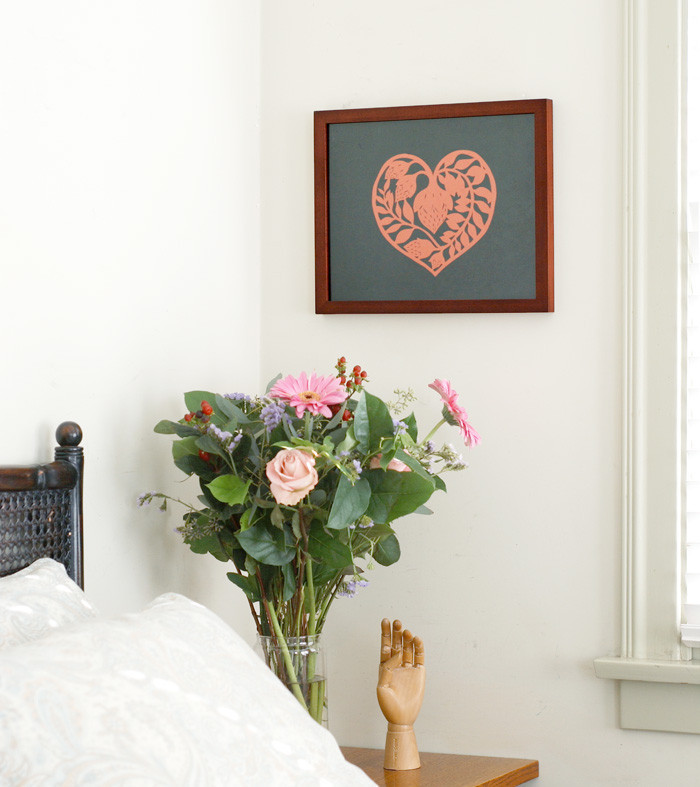Framed heart by Elsa Mora 1024x1024 Papercut Patterns for my New Shop.
