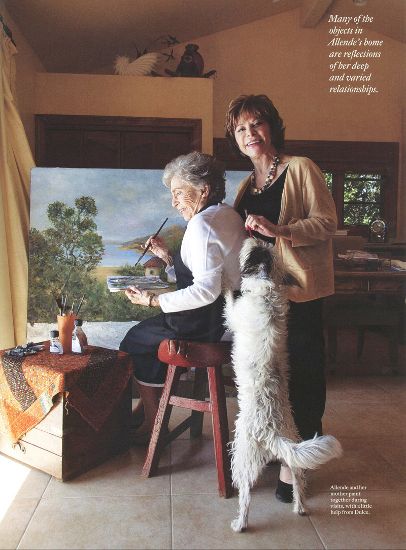 Isabel Allende and her Mom American Craft Magazine.