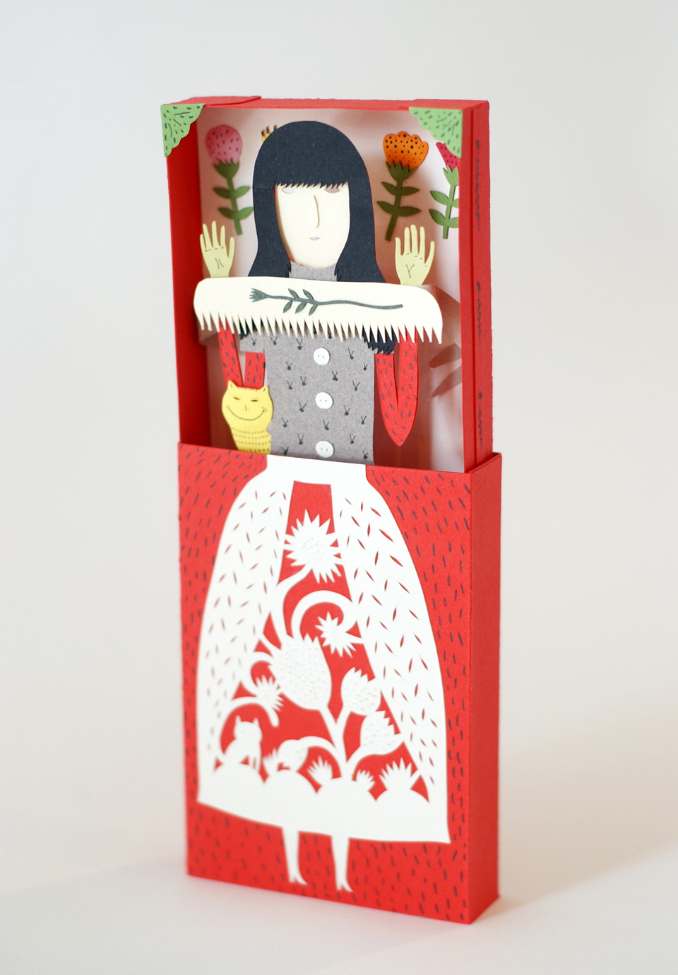 Paper art by elsa mora The Mystery Box.