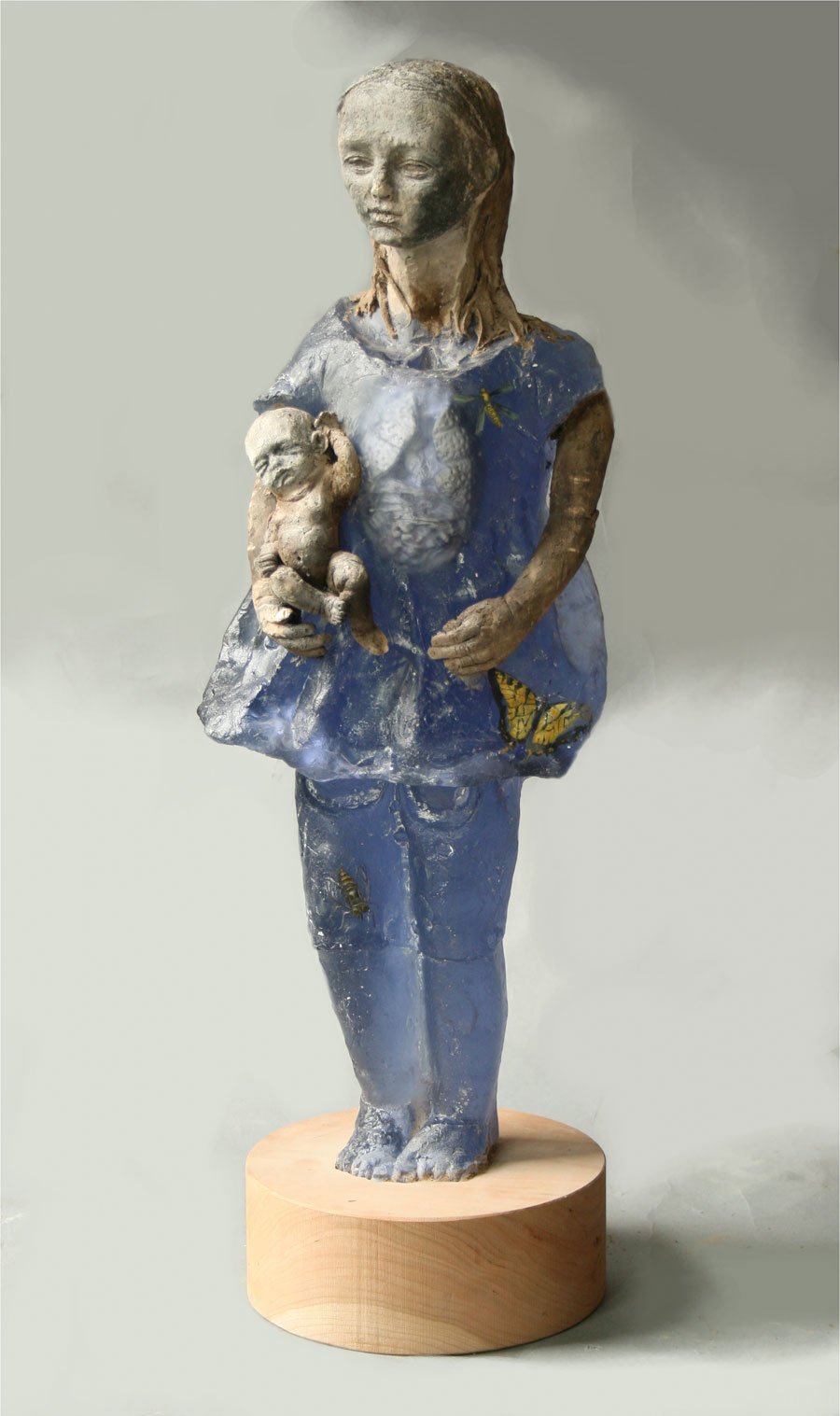 Anatomical Doll With Baby The Art of Christina Bothwell.