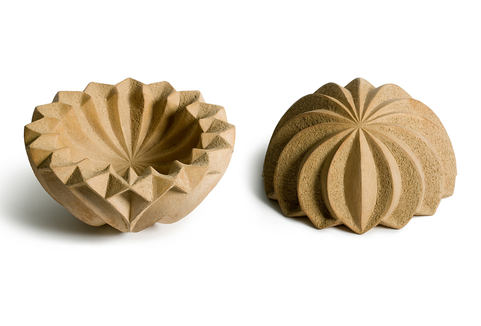 1 Desert Leaf 12inch D x 6inch H 1 Ceramics by Halima Cassell.