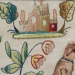 Embroidered Cabinet from the 17th century.