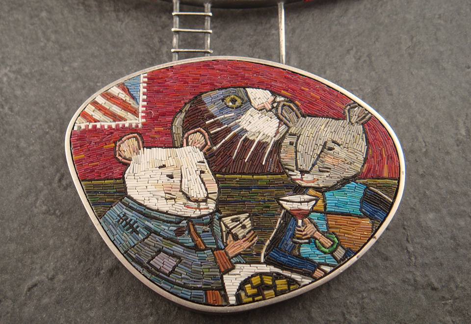 7108929547 cd67b130b6 h1 Micromosaic Jewelry by Cynthia Toops.