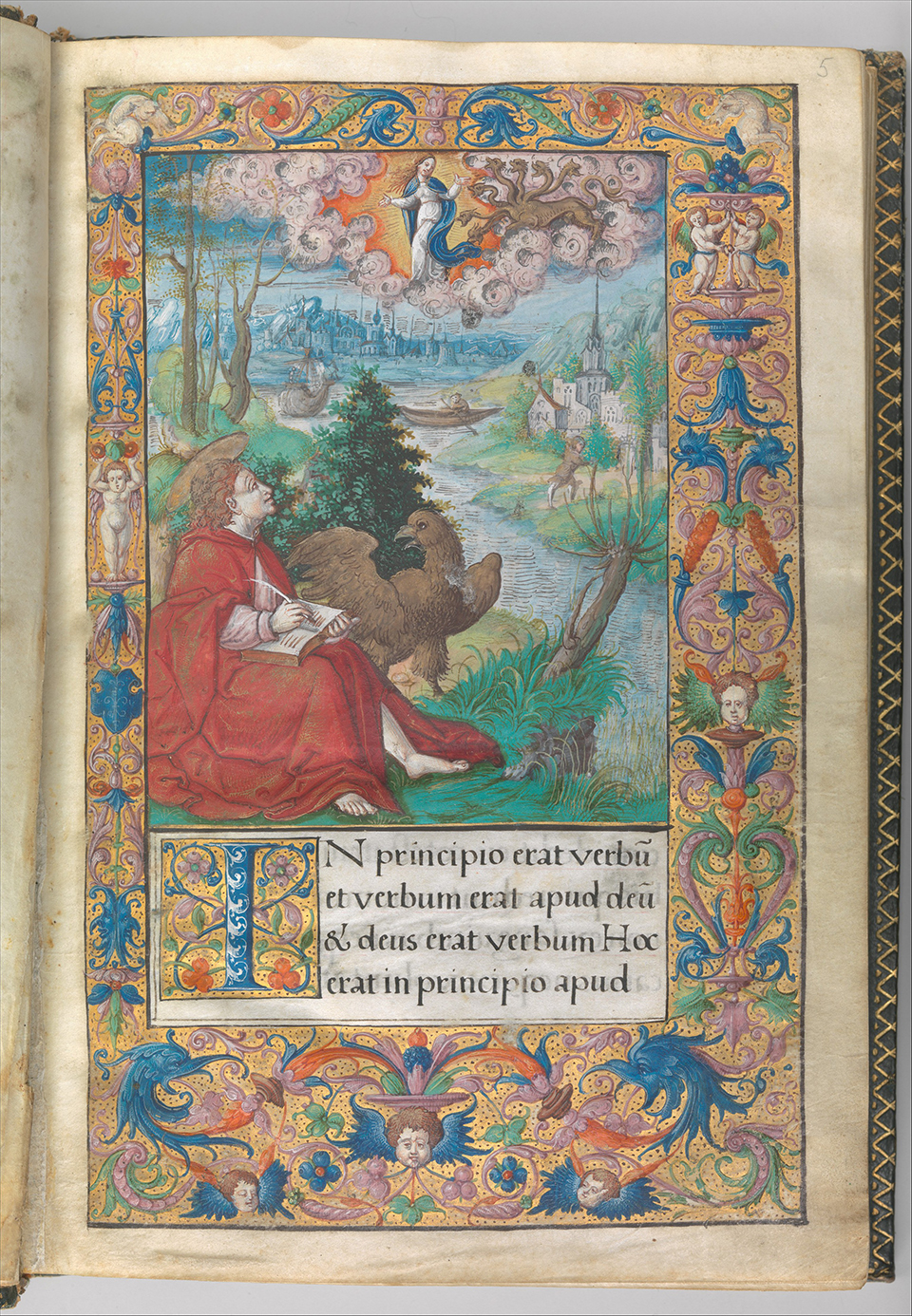 DP265425 Illuminated Book of Hours made for King Francis I.
