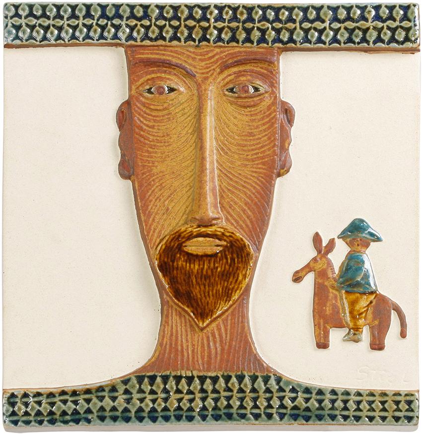 stig-lindberg-gustavsberg-don-Quixote-portrait-plaque-50s-bm