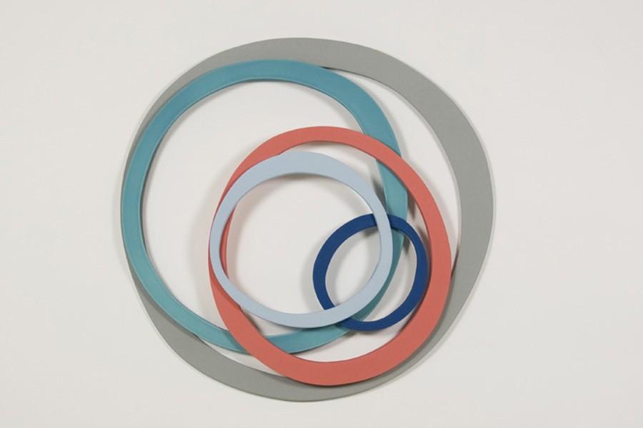 wallpiece 6 dia 37cm Ceramics by Maria Wojdat.