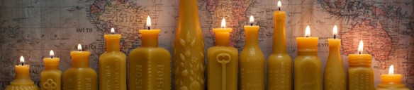 Beautiful Beeswax Candles by Pollen Arts.