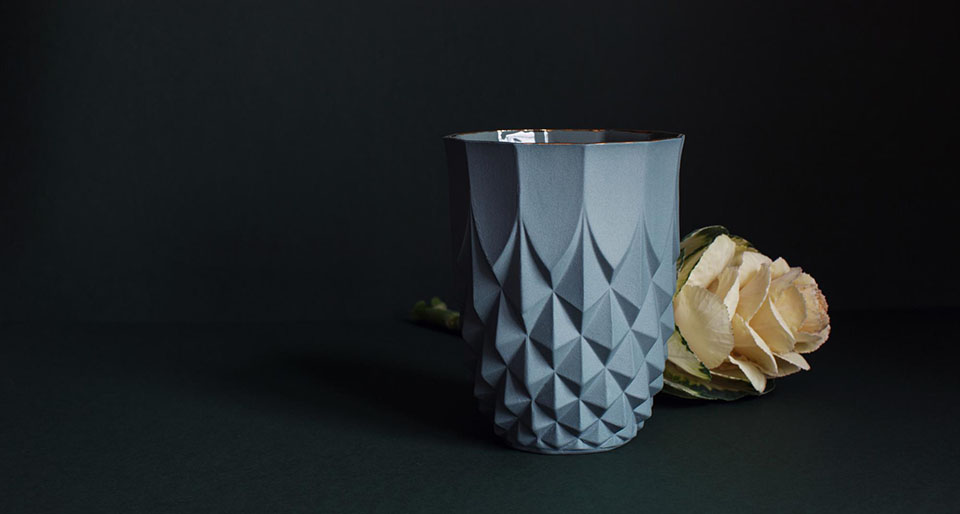 lenneke wispelwey - pineapple blue gold rim