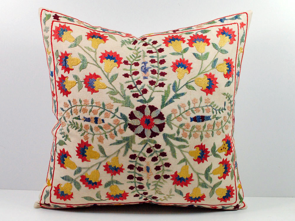 Embroidered Decorative Pillow : Beautiful Embroidered Pillows. Art is a Way