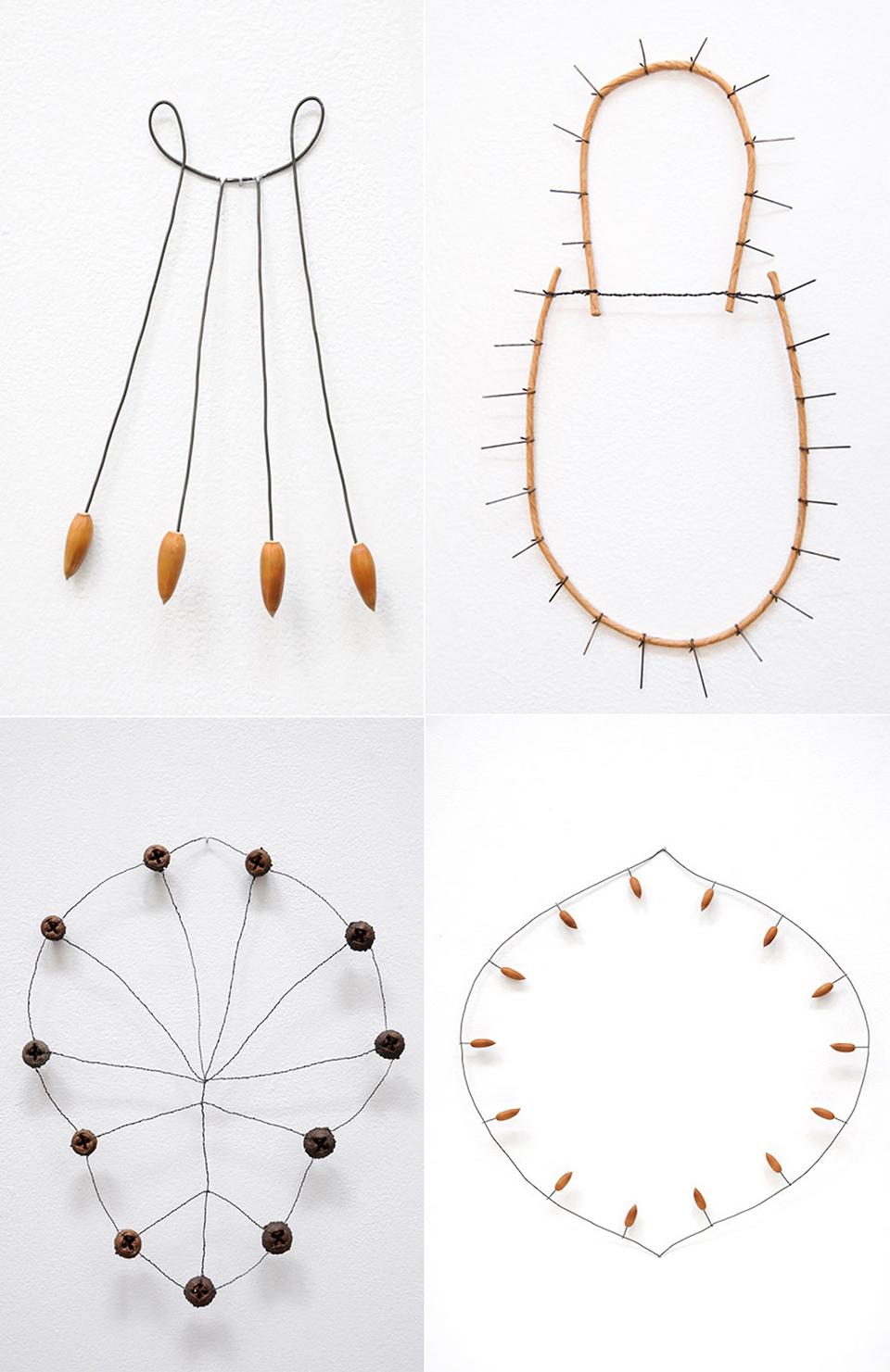 4 wire sculptures